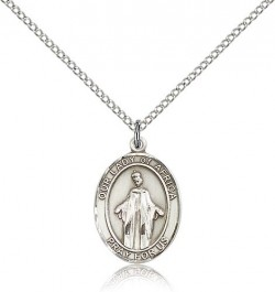Our Lady of Africa Medal, Sterling Silver, Medium [BL0253]