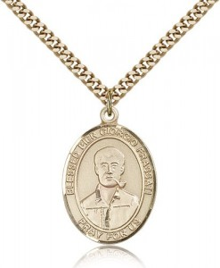 Blessed Pier Giorgio Frassati Medal, Gold Filled, Large [BL0022]