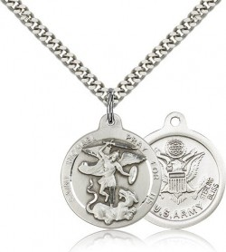 St. Michael Army Medal, Sterling Silver [BL4461]