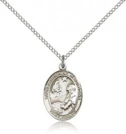 St. Catherine of Bologna Medal, Sterling Silver, Medium [BL1043]