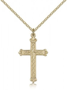 Cross Pendant, Gold Filled [BL6286]