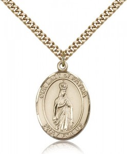 Our Lady of Fatima Medal, Gold Filled, Large [BL0285]