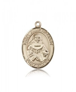 St. Julie Billiart Medal, 14 Karat Gold, Large [BL2493]
