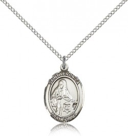 St. Veronica Medal, Sterling Silver, Medium [BL3857]