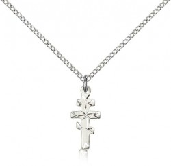Greek Orthodox Cross Pendant, Sterling Silver [BL6406]