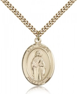 St. Odilia Medal, Gold Filled, Large [BL2979]