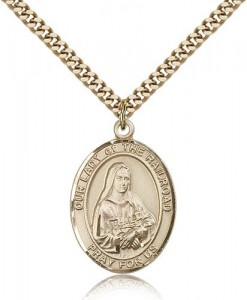 Our Lady of the Railroad Medal, Gold Filled, Large [BL0465]
