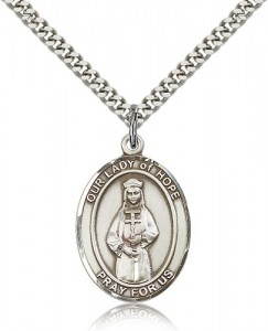 Our Lady of Hope Medal, Sterling Silver, Large [BL0324]