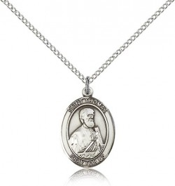 St. Thomas the Apostle Medal, Sterling Silver, Medium [BL3812]