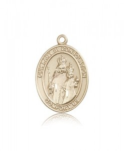 Our Lady of Consolation Medal, 14 Karat Gold, Large [BL0273]
