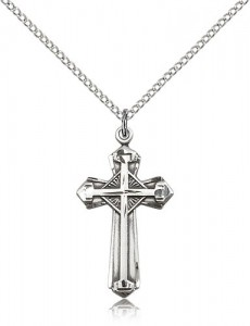 Cross Pendant, Sterling Silver [BL6689]