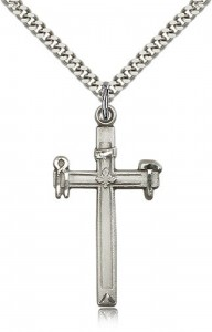 Carpenter Cross Pendant, Sterling Silver [BL5426]