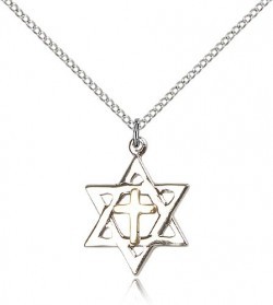 Star of David Medal, Two-Tone [BL5142]