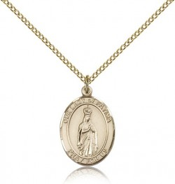 Our Lady of Fatima Medal, Gold Filled, Medium [BL0286]
