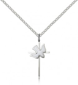 Holy Sprit Cross Pendant, Sterling Silver [BL5279]