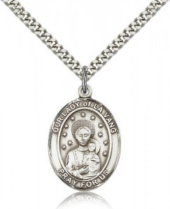 Our Lady of La Vang Medal, Sterling Silver, Large [BL0351]