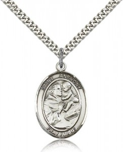 St. Anthony of Padua Medal, Sterling Silver, Large [BL0768]
