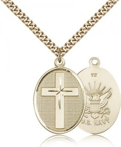 Navy Cross Pendant, Gold Filled [BL4829]
