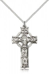 Celtic Cross Pendant, Sterling Silver [BL6331]