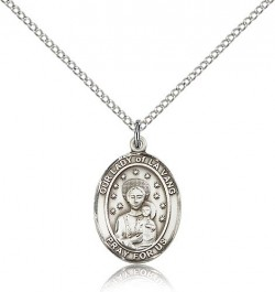 Our Lady of La Vang Medal, Sterling Silver, Medium [BL0352]
