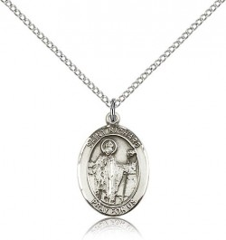 St. Richard Medal, Sterling Silver, Medium [BL3238]