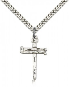 Nail Cross Pendant, Sterling Silver [BL4003]