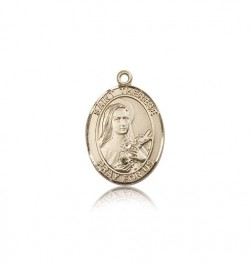 St. Therese of Lisieux Medal, 14 Karat Gold, Medium [BL3761]