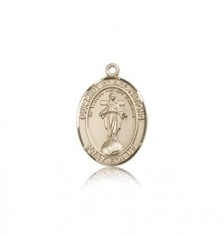 Our Lady of All Nations Medal, 14 Karat Gold, Medium [BL0256]