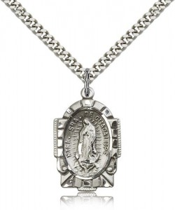Our Lady of Guadalupe Medal, Sterling Silver [BL5338]