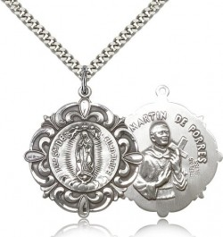 Our Lady of Guadalupe Medal, Sterling Silver [BL5141]
