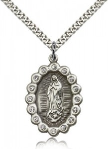 Our Lady of Guadalupe Medal, Sterling Silver [BL5318]