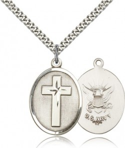 Navy Cross Pendant, Sterling Silver [BL4847]
