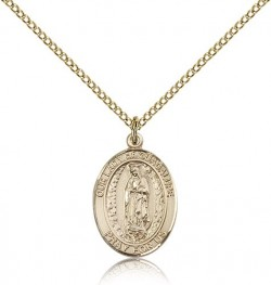 Our Lady of Guadalupe Medal, Gold Filled, Medium [BL0313]