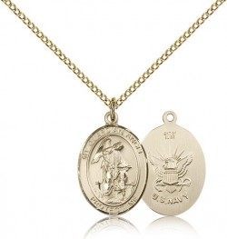 Guardian Angel Navy Medal, Gold Filled, Medium [BL0145]