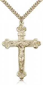 Crucifix Pendant, Gold Filled [BL4679]