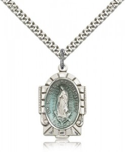 Our Lady of Guadalupe Medal, Sterling Silver [BL5335]