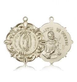 Our Lady of Guadalupe Medal, 14 Karat Gold [BL5140]