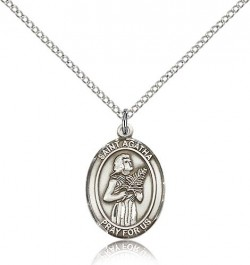 St. Agatha Medal, Sterling Silver, Medium [BL0592]