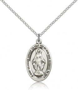 Miraculous Medal, Sterling Silver [BL5824]