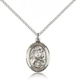 St. Sarah Medal, Sterling Silver, Medium [BL3337]