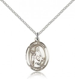 St. Amelia Medal, Sterling Silver, Medium [BL0688]