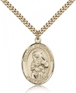 Our Lady of Providence Medal, Gold Filled, Large [BL0438]