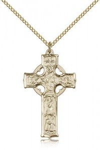 Celtic Cross Pendant, Gold Filled [BL6329]