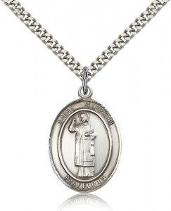 St. Stephen the Martyr Medal, Sterling Silver, Large [BL3712]