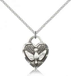 Confirmation Heart Medal, Sterling Silver [BL5532]