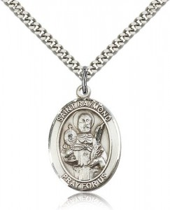 St. Raymond Nonnatus Medal, Sterling Silver, Large [BL3174]