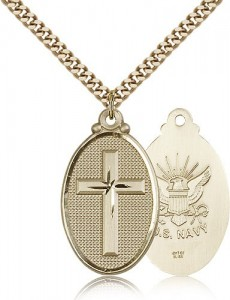 Navy Cross Pendant, Gold Filled [BL5969]