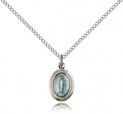 Miraculous Medal, Sterling Silver [BL4792]