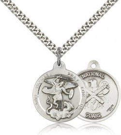 St. Michael National Guard Medal, Sterling Silver [BL4464]