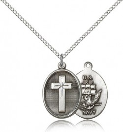 Navy Cross Pendant, Sterling Silver [BL5026]